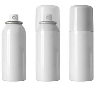 Generic photo of 3 white aerosol cans on white background | Class C Components