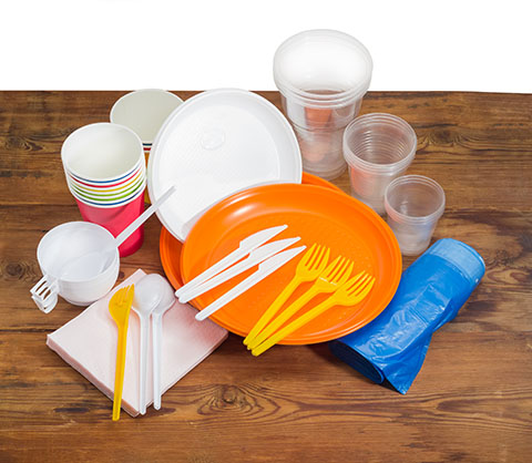 Cafeteria Supplies displayed on a wood table | Class C Components