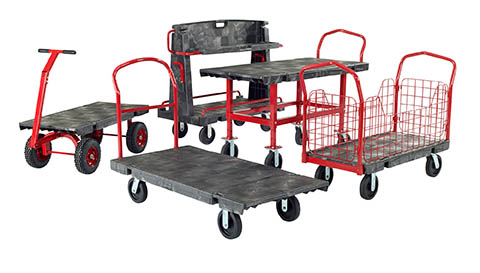 4-Wheel Carts on a White Background | Class C Components