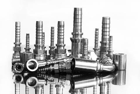 Hydraulic Fittings on White Background | Class C Components
