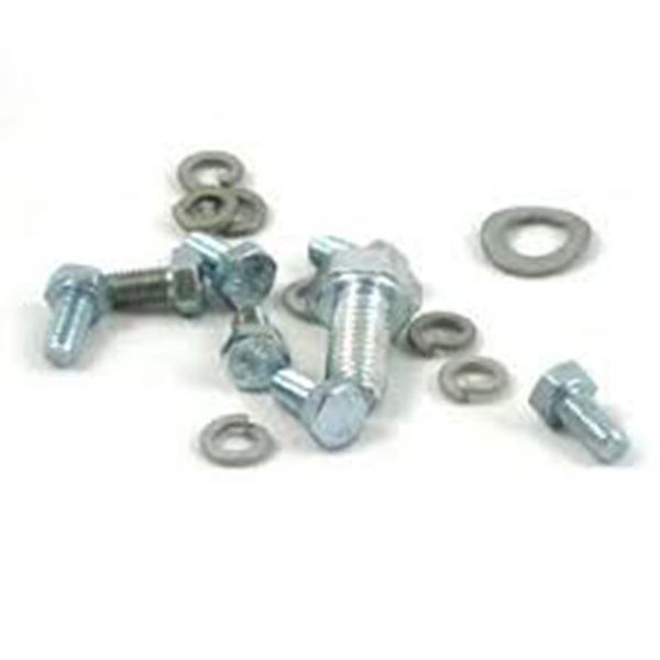 Fastener Bolts and Lock Washers on White Background | Class C Components