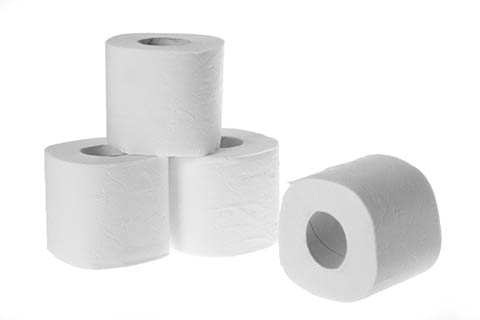 Toilet Tissue on a White Background | Class C Components
