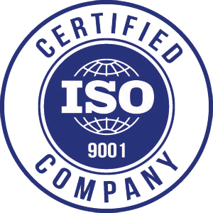 Blue ISO 9001 Certified Logo | Class C Components
